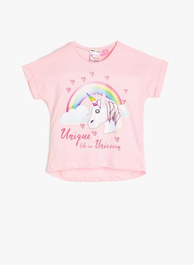Koton Kids Emoji Lisanslı Baskılı T-Shirt Pembe